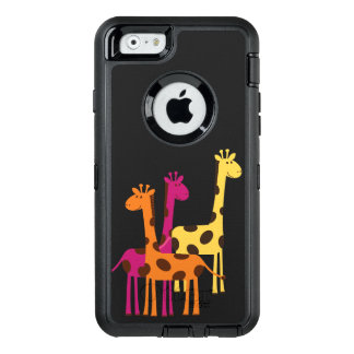 Cute Yellow, Pink and Orange Giraffes OtterBox iPhone 6/6s Case