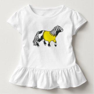 Cute yellow pony dress