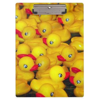 Cute yellow rubber duckies pattern clipboard