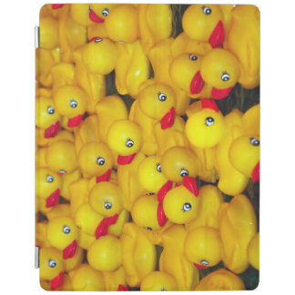 Cute yellow rubber duckies pattern iPad cover