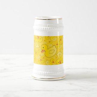 Cute yellow rubber ducks mug