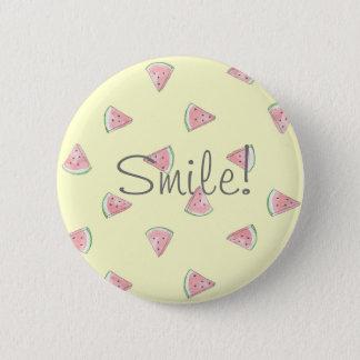 Cute yellow watermelon pattern smile pin