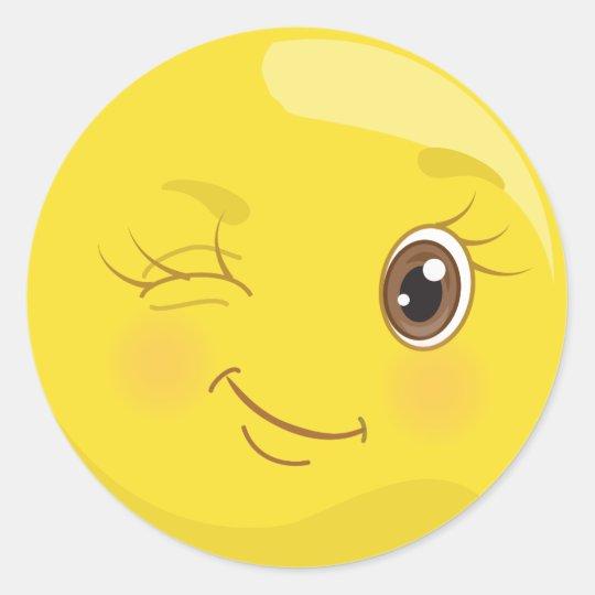 Cute Yellow Wink Emoji Stickers