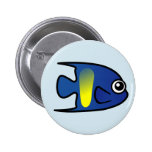 Cute Yellowbar Angelfish Pinback Buttons