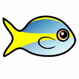 Cute Yellowtail Snapper Photo Sculpture Decoration