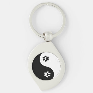Cute Yin Yang Paws Keychain