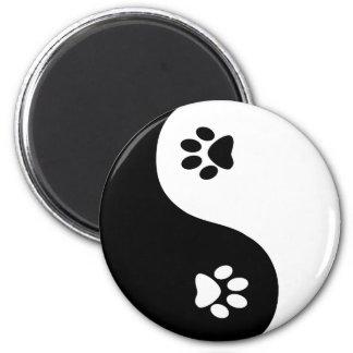 Cute Yin Yang Paws Magnet