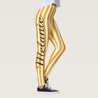 Cute Yoga Colorful Orange Stripe Pattern Leggings