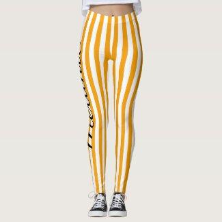 Cute Yoga Colourful Orange Stripe Pattern