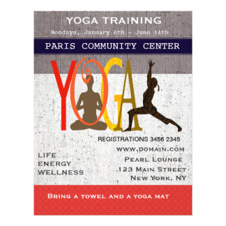 Cute Yoga Flyer Design