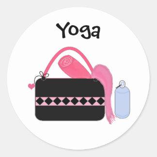 Cute Yoga Gear Round Sticker