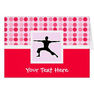 Cute Yoga Greeting Card