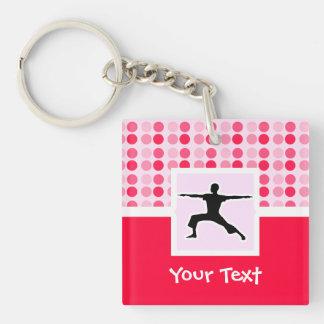 Cute Yoga Acrylic Keychain