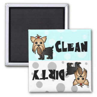 Cute Yorkie Clean / Dirty Dishwasher Magnet