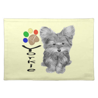 Cute Yorkie Dog American MoJo Placemats