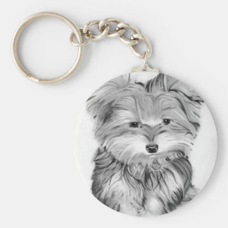 Cute Yorkie Dog Key Ring