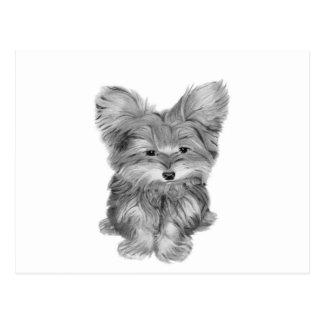 Cute Yorkie Dog Postcard