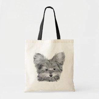Cute Yorkie Dog Tote Bag