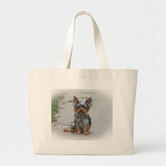Cute Yorkie Large Tote Bag