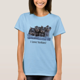 Cute Yorkie Puppy T-Shirt