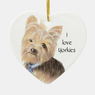 Cute Yorkie, Yorkshire Terrier, Dog, Pet Christmas Ornament