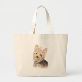 Cute Yorkie, Yorkshire Terrier, Dog, Pet Large Tote Bag