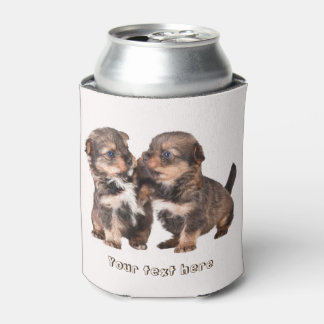 Cute Yorkshire Puppies Can Cooler