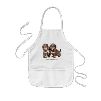 Cute Yorkshire Puppies Kids Apron