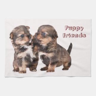 Cute Yorkshire Puppies Tea Towel