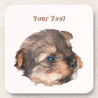 Cute Yorkshire Puppy Face Coaster