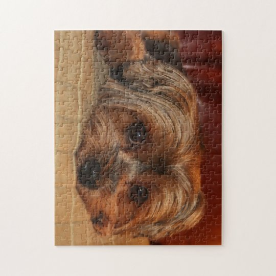 Cute yorkshire terrier dog,yorkie jigsaw puzzle