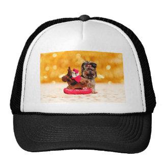 Cute Yorkshire Terrier Merry Christmas Cap