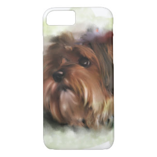 Cute yorkshire terrier puppy dog digital art iPhone 8/7 case