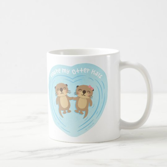 Cute You Are my Otter Half Love Pun Humour Mug