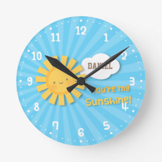 Cute You Are my Sunshine Kids Room Decor Clock