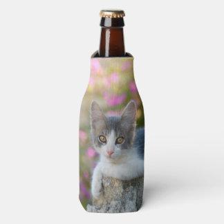 Cute Young Bicolor Cat Kitten PhotoBottle-Jacket Bottle Cooler