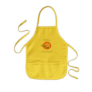 Cute Young Cook Chef Custom Text Kids Pizza Apron