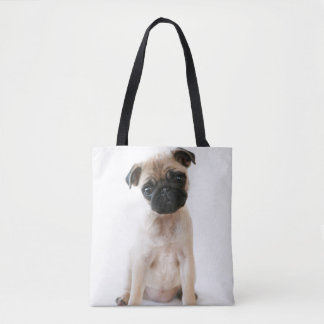 Cute Young Pug Dog Tote Bag