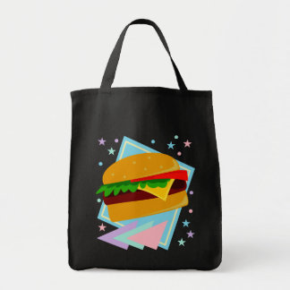 Cute Yummy Burger Grocery Tote Bag