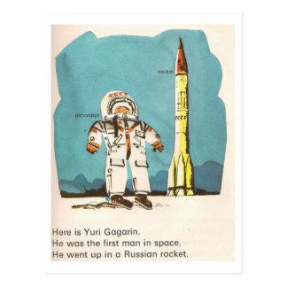 Cute Yuri Gagarin Postcard