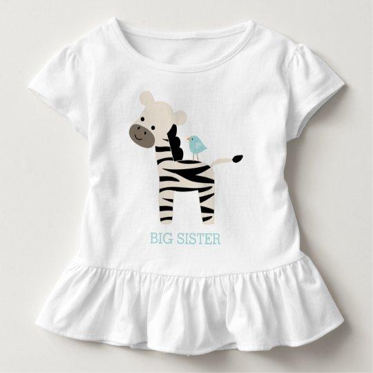 Cute Zebra and Bird Custom Message Toddler T-Shirt