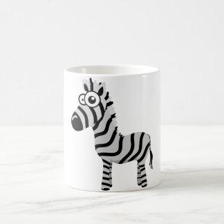Cute zebra basic white mug