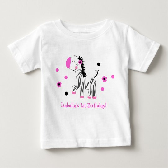 Cute Zebra Birthday Tee Shirt Tshirt Girl Kid
