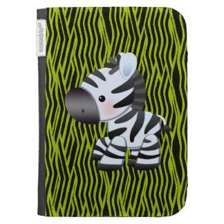 Cute Zebra Green Animal Print Kindle Case