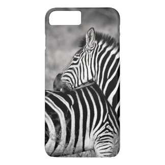 Cute Zebra Herd Nature Safari Black White iPhone 7 Plus Case