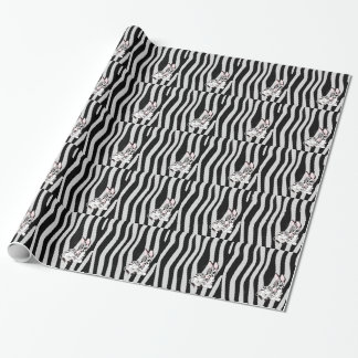 Cute Zebra Print With Animal Cartoon Wrapping Paper