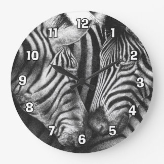 Cute Zebras Wall Clock
