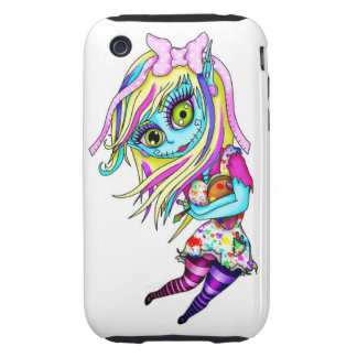 Cute Zombie Doll iPhone 3 Tough Cases