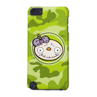 Cute Zombie Girl bright green camo camouflage iPod Touch (5th Generation) Cover