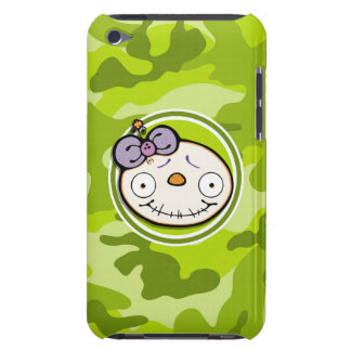 Cute Zombie Girl bright green camo camouflage Case-Mate iPod Touch Case